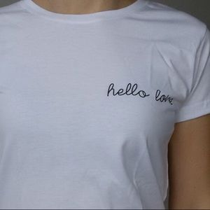 Frame+Form Tops - Hello Love Statement Tee